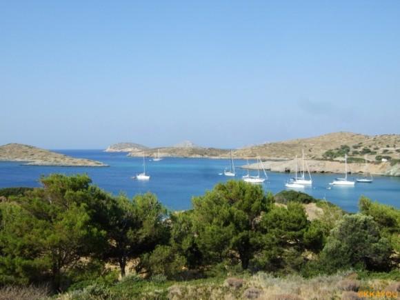 Lipsi -Blick in die Bucht Lera Lipso
