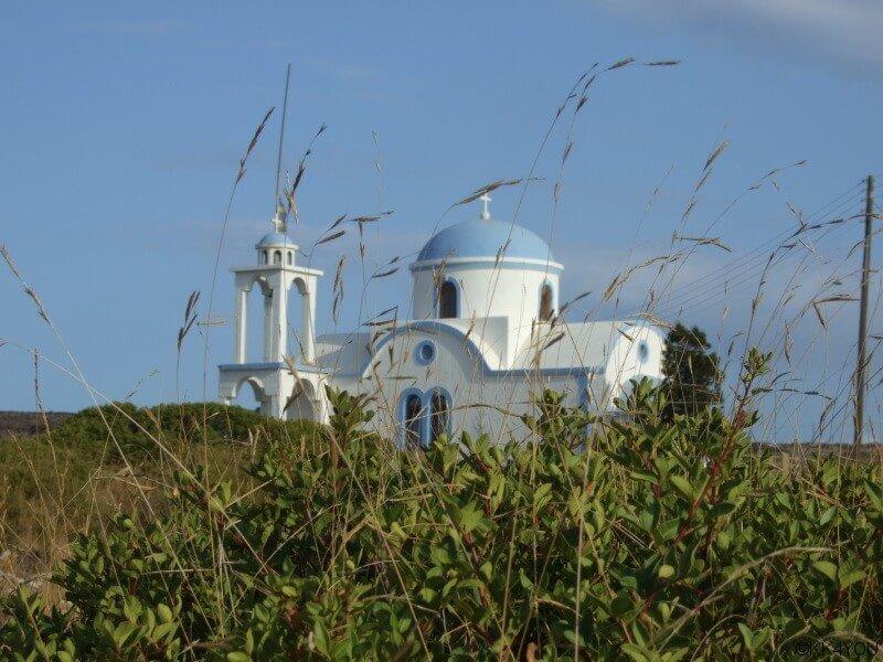Arki -Porto Augusta, Kapelle am Hügel nach Porto Stretto