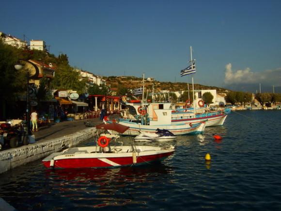 Dodekanes und Kykladen -Hafen Pythagoreion auf Samos