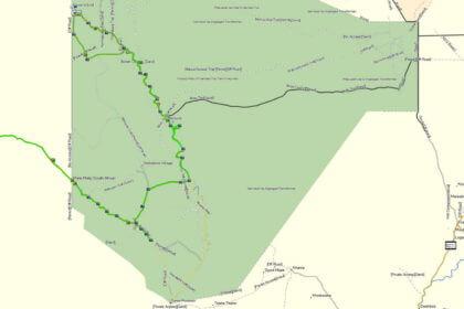 Kgalagadi Transfrontier Park an der Grenze zu Namibia