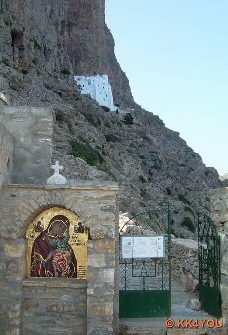 Weg zum Kloster Chozoviotissa