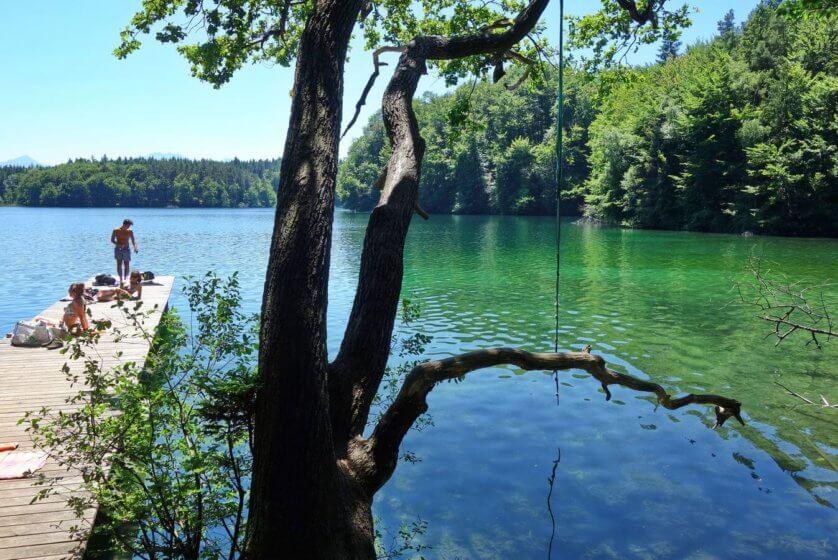 Einsamer Badeplatz Langburgner See