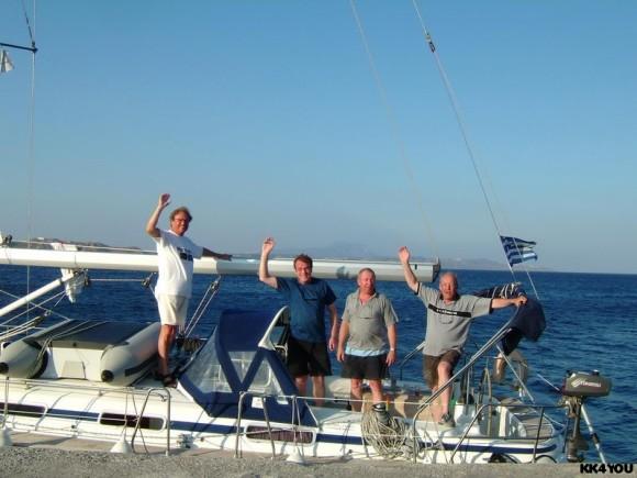 Törn zwischen Rhodos und Kos: Crew: Eberhard, Rolf, Hans, Klaus