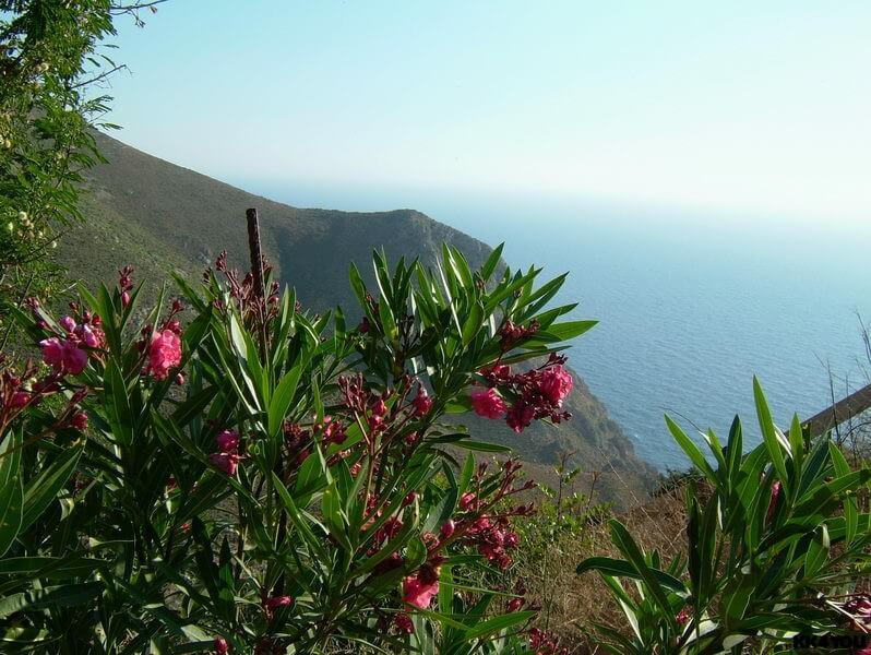 Tilos -Ausblick vom Kloster Agios Panteleimonas