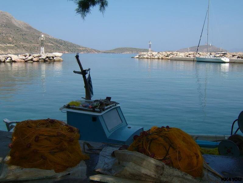 Tilos -frischer Fang von Andonis