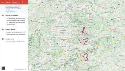 große Darstellung in Google Maps