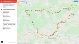 Google Maps Darstellung der einzelnenr Radtouren mit allen POIs