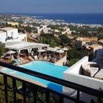 Kreta -Ausblick vom Creta Blue Boutique Hotel auf Limenas Chersonisou