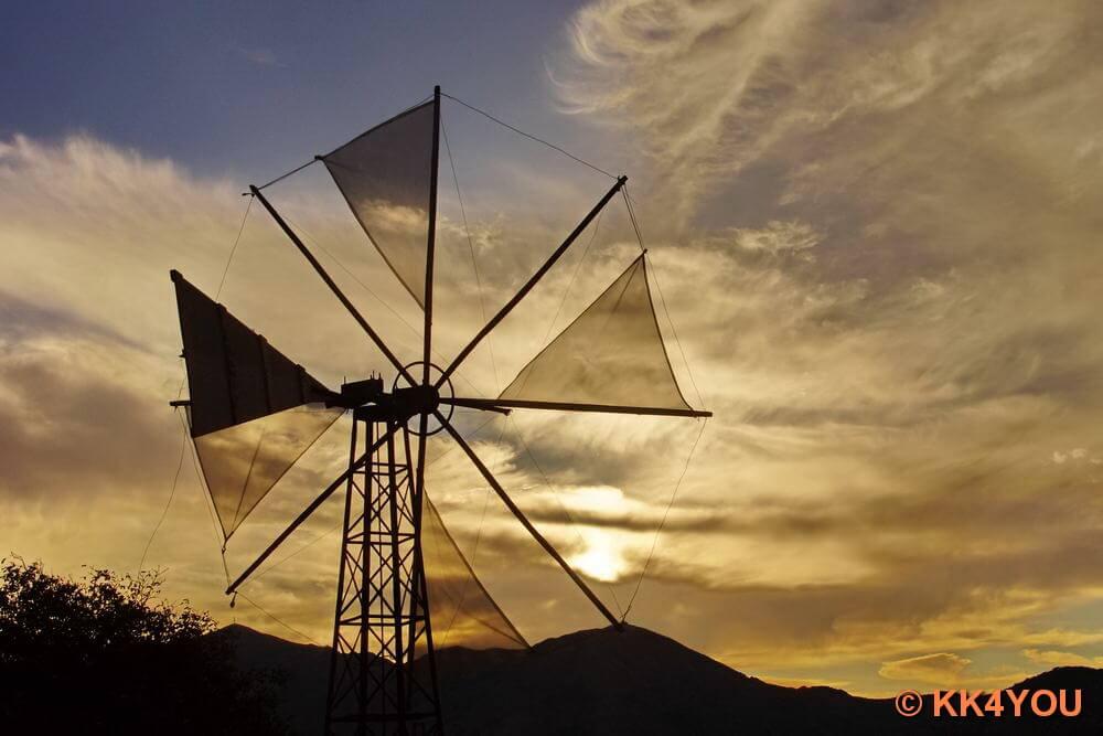 Kreta -Windräder als Wasserpumpen