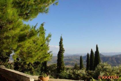 Kloster Moni Agiou Antoniou Vrodisiou -Blick in die Messara Ebene