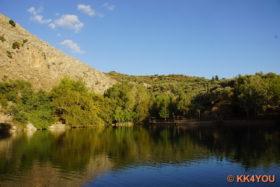 Forellenessen auf Kreta am See von Zaros