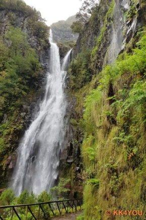 Risco Wasserfall im Naturschutzgebiet Rabacal