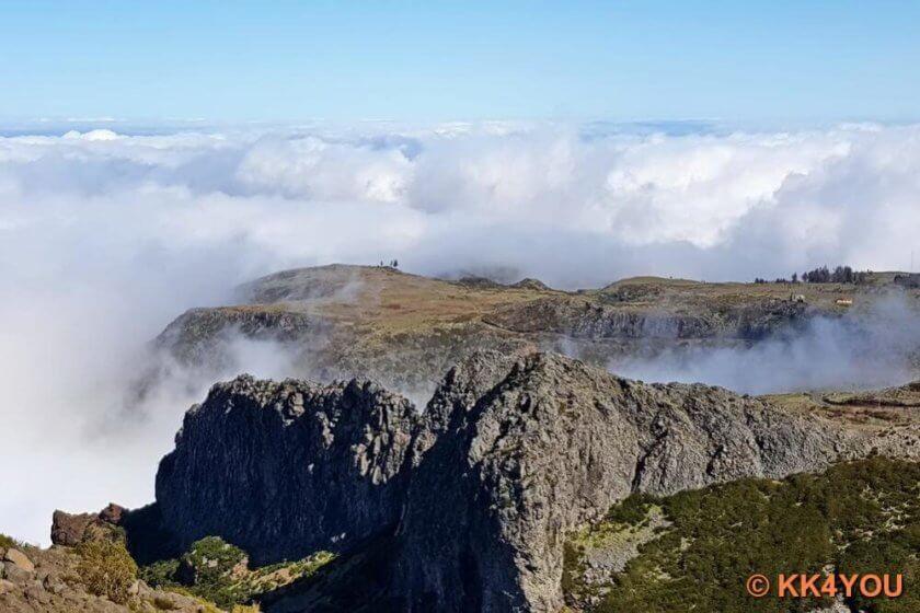 Madeiras Zentrum -Pico do Arieiro, dritthöchster Berg Madeiras mit 1818 Meter