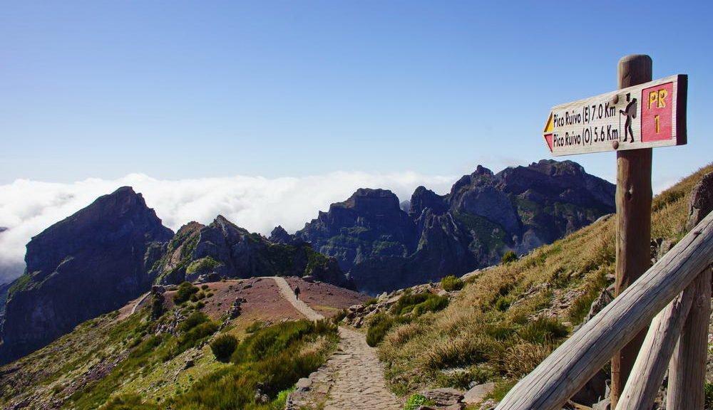 Madeira -Pico do Arieiro, dritthöchster Berg Madeiras mit 1818 Meter