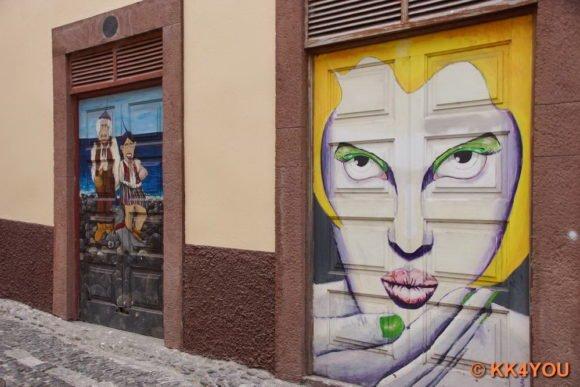 Funchal Altstadt -Junge Kunst an alten Türen