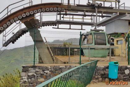 Madeiras Nordwestküste -Seilbahnstation von Achadas da Cruz