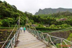 Park rund um das Vulkanologie-Zentrum der Vulkanhöhlen von São Vicente