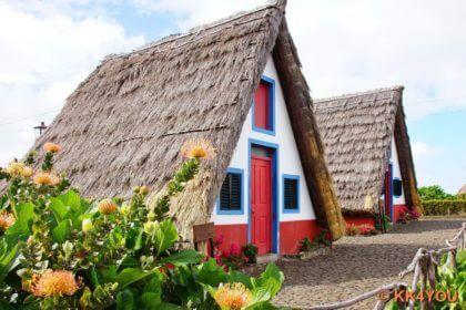 Madeiras Nordküste -Santanahäuser