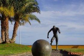 Denkmal des Weltfußballer Christian Ronaldo