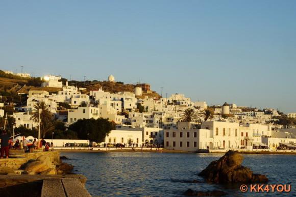 Kykladen zwischen Lavrion und Paros -Yachthafen Mykonos