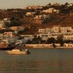 Panorama der Bucht von Mykonos Stadt (Chora)