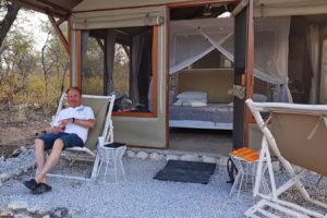 Zelt mit Terrasse -Mushara Bush Camp