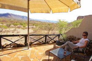 Vingerklip Lodge -Terrasse zum Entspannen