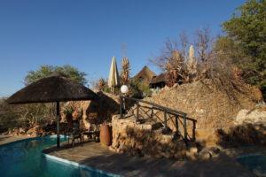 Poolbereich Vingerklip Lodge