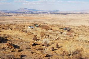 Namib's Valley -Blick auf die Bungalows