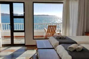 Blick vom Bett auf die Lüderitz Bucht
