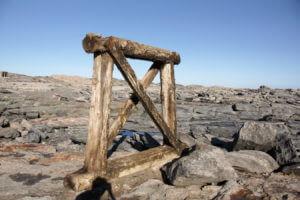 Reste der Holzbrücke zum Diaz-Point