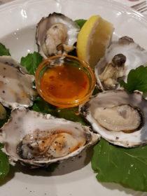 Dinner im Nest Hotel -Austern