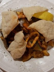 Dinner im Nest Hotel -Indische Meeresfrüchte