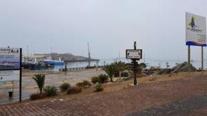 Lüderitz Waterfront im morgendlichen Dunst