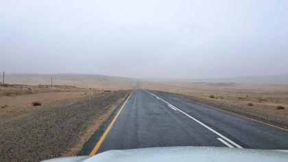 Regen und Nebel in der Namib