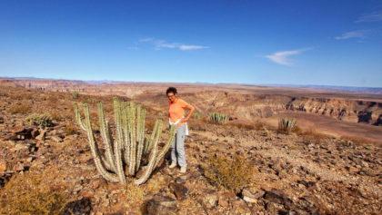 Wanderung am Rande des Canyon