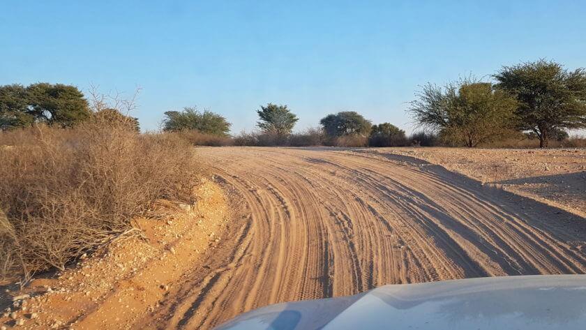Zufahrt zum Kgalagadi Transfrontier Nationalpark