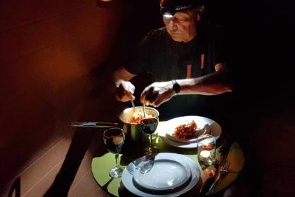Dinner im Nossob Rest Camp