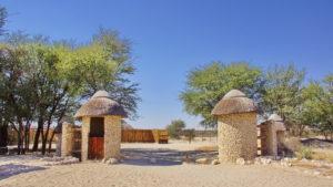 Zugang zum Hide im Nossob Rest Camp