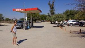 Tankstelle im Nossob Rest Camp