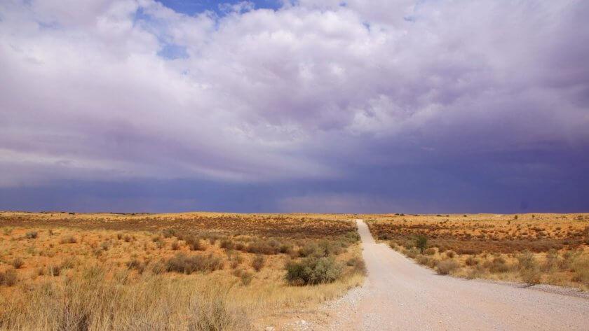 Upper-Dune-Road, Regenwolken ziehen auf