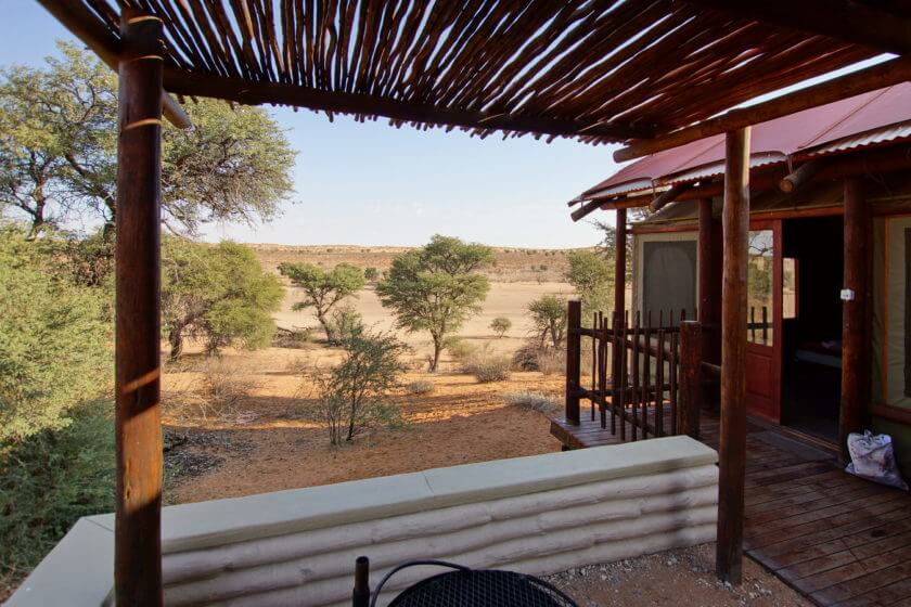 Kalahari Tended Camp, Blick vom Grillplatz