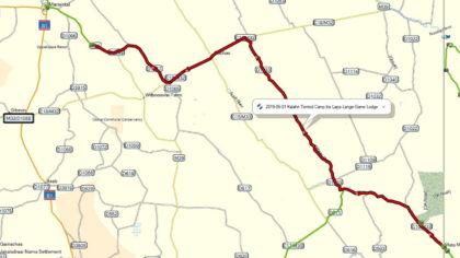 Tour-Map von Mata-Mata zur Lapa Lange Lodge