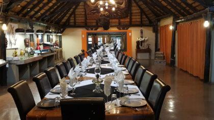 Speisesaal der Lapa Lange Lodge