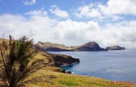 Blick auf die langgestreckte Halbinsel Ponta de São Lourenço