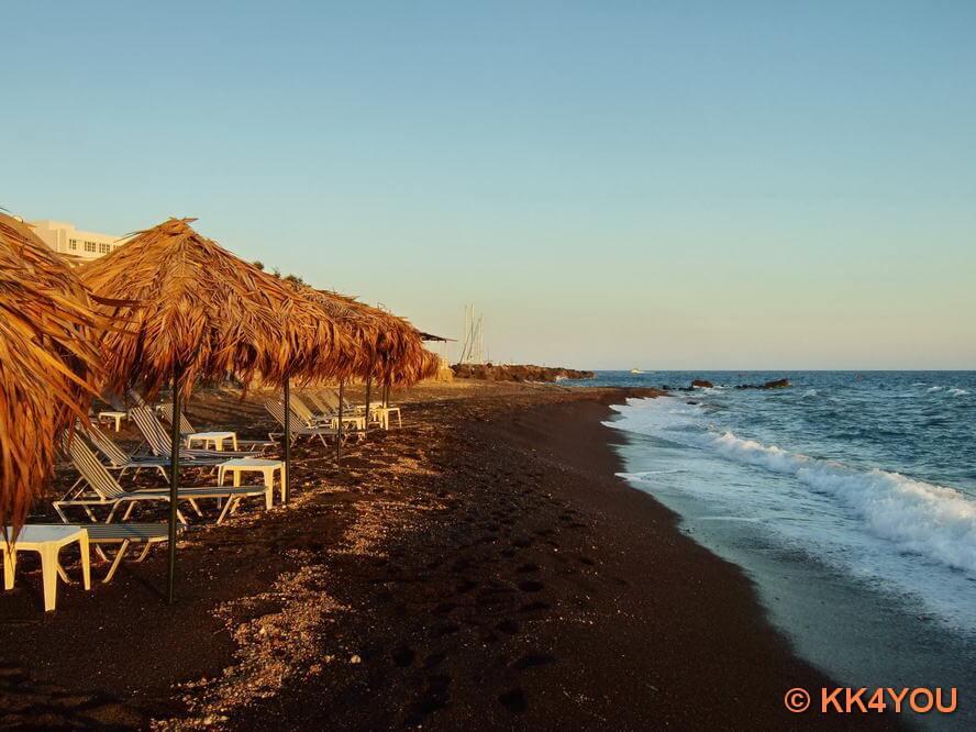 Strand westlich der Marina Vlichada
