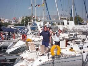 Schiffsübernahme Kalamaki Marina Alimos
