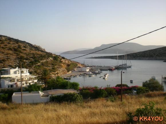 Kleine Kykladen -Schinouss, Blick auf Hafen Ormos Myrsini