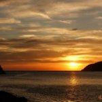 Sonnenuntergang in der Bucht von Kamares