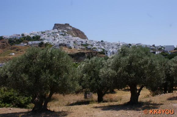 Blick auf Skyros Stadt